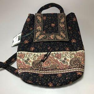 90's Vera Bradley Black Walnut Mini Backpack NWT